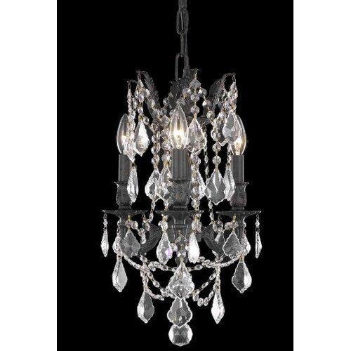 Elegant Lighting Rosalia 3 Light  Chandelier