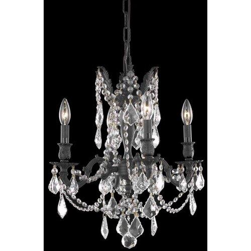 Elegant Lighting Rosalia 4 Light  Chandelier