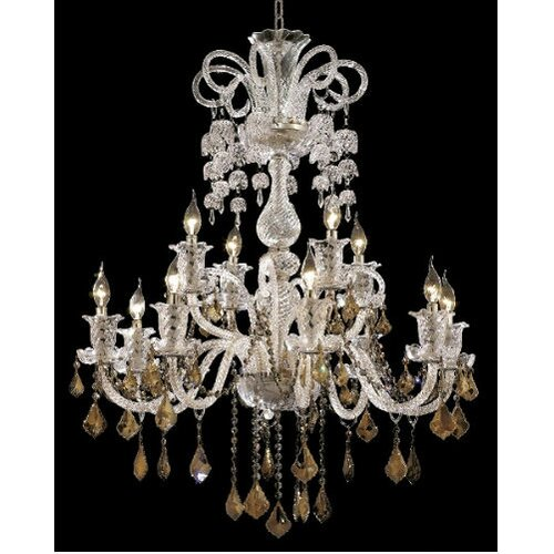 Elegant Lighting Elizabeth 12 Light  Chandelier