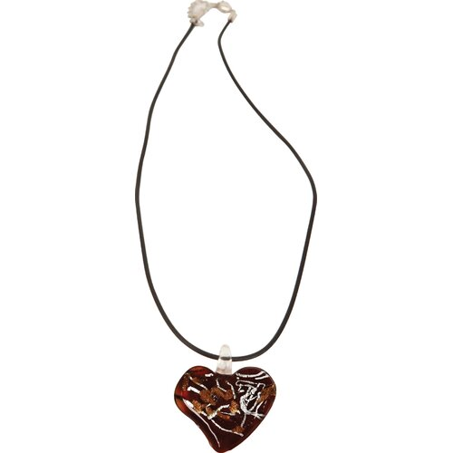 Red Dichroic Glass Heart Pendant Necklace