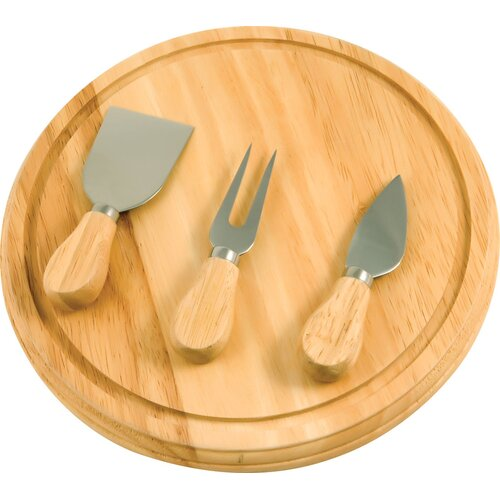The Premium Connection KitchenWorthy Rubberwood Board and Serving Set