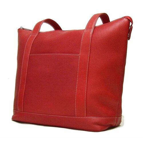 Le Donne Leather Double Strap Pocket Tote Bag