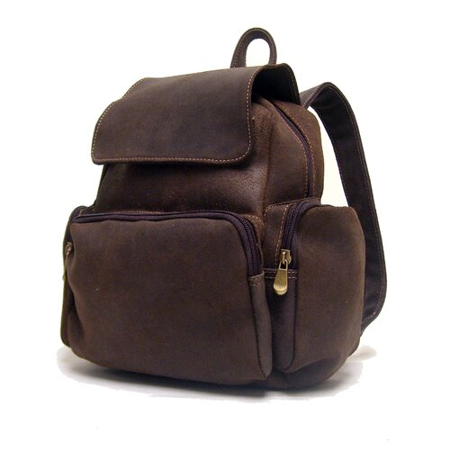Women's Leather Multi Pocket Backpack