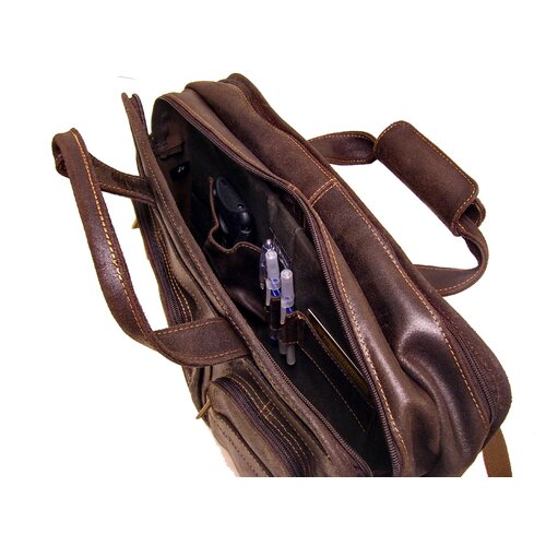 Le Donne Leather Multi Function Leather Briefcase