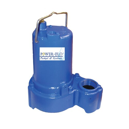 Power-Flo 1/2 HP Sump/Effluent Submersible Pump with 8 Amps Automatic Operation