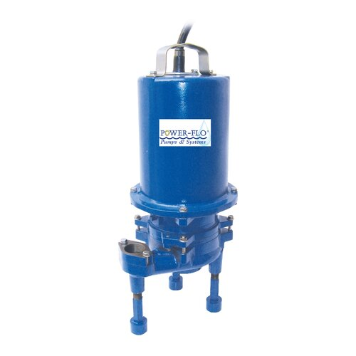 Power-Flo 2 HP Grinder High Volume Submersible Pump with Double Seal 15 Amps