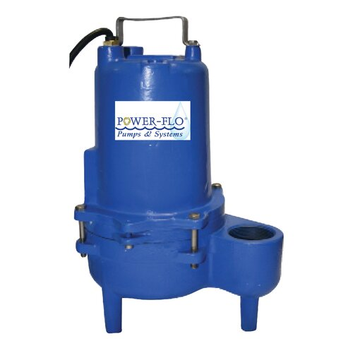 Power-Flo 4/10 HP Sewage Submersible Pump with 6.2 Amps Manual Operation
