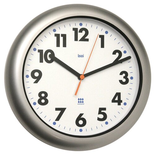 "Bai Design 10.5"" Aquamaster Weatherproof Wall Clock"