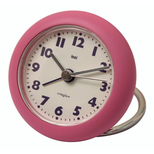 Rondo Travel Alarm Clock in Pink
