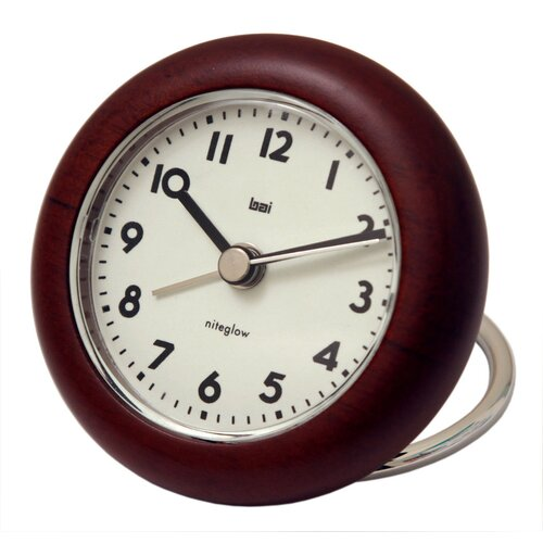 Bai Design Landmark Rondo Wooden Travel Alarm Clock