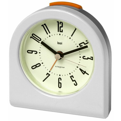 Bai Design Designer Pick-Me-Up Alarm Clock in White