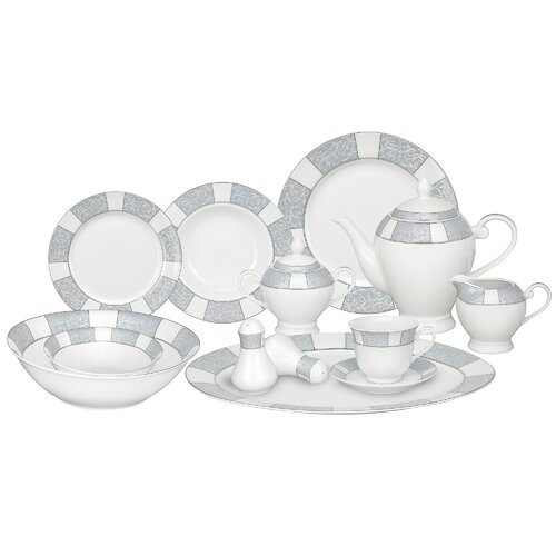 Casa Lorren Domus 57 Piece Porcelain Dinnerware Set