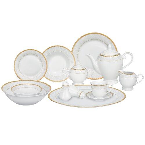 Casa Lorren Ricamo 57 Piece Porcelain Dinnerware Set