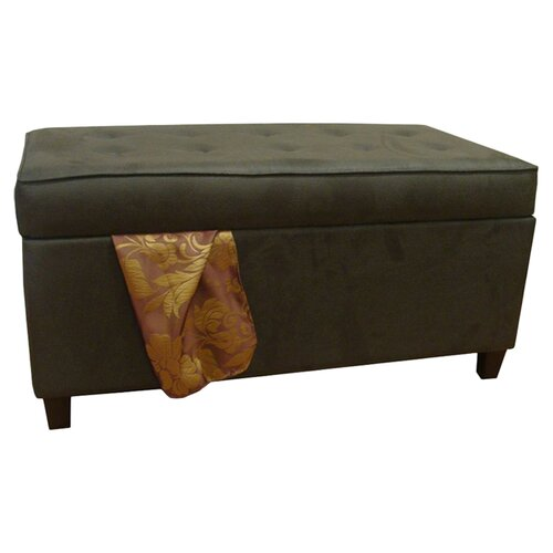 Kinfine Faux Leather Storage Bench