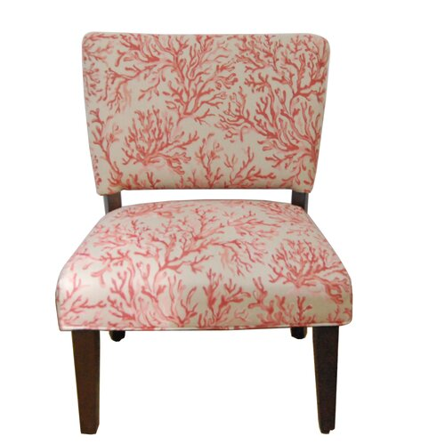 Kinfine Floral Gigi Fabric Slipper Chair
