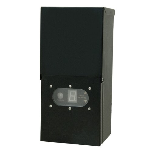 Paradise Garden Lighting Transformer with Photocell and Digital Timer Ground Shield in Black