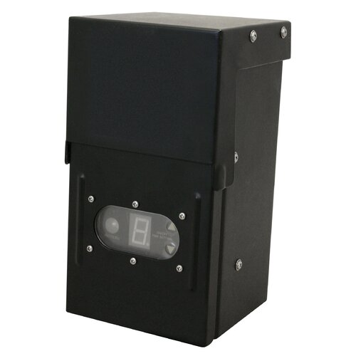 Transformer with Photocell and Digital Timer in Black