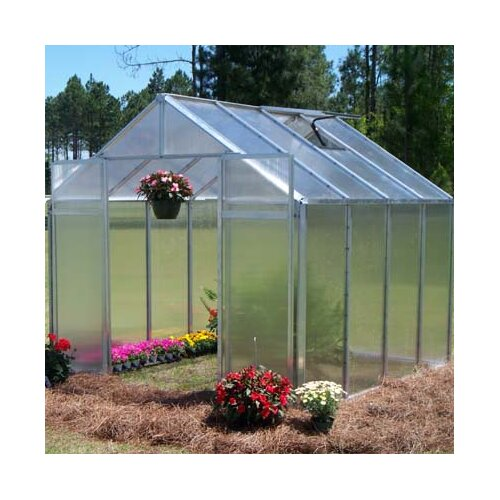 "Riverstone Industries Monticello 7' 6"" H x 8.0' W x 16.0' D Quick Assembly Polycarbonate 8 mm Greenhouse"