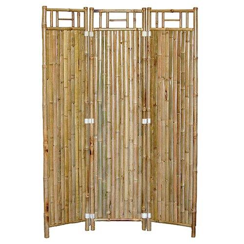 """Bamboo54 63"""" x 48"""" Natual Bamboo 3 Panel Room Divider"""