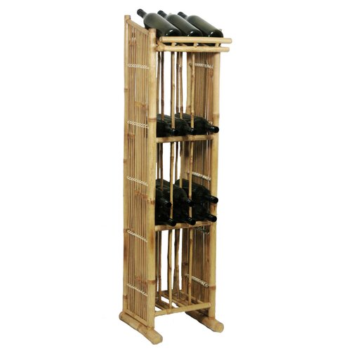 Bamboo54 Natural Bamboo 39 Bottle Wine Rack