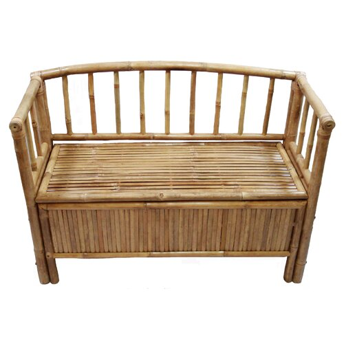 Bamboo54 Natural Bamboo Storage Bench