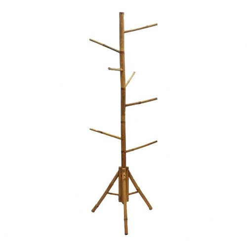 Natural Bamboo Coat Rack