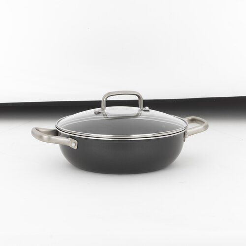 Taste of Italy 4-qt. Risotto Non-Stick Frying Pan with Lid