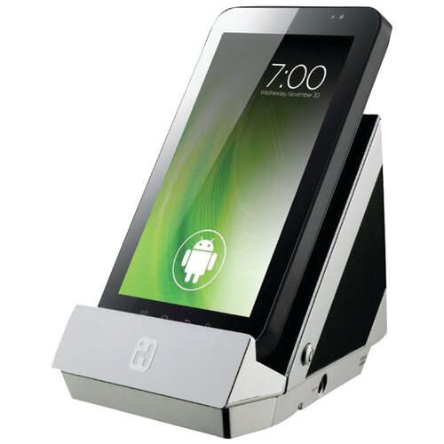 Portable Stereo Speaker and Charging Dock for Tablets and Smartphones
