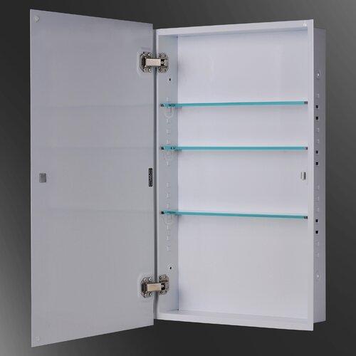 Euroline 18 x 36 recessed beveled edge medicine cabinet for Bathroom medicine cabinets 14 x 18