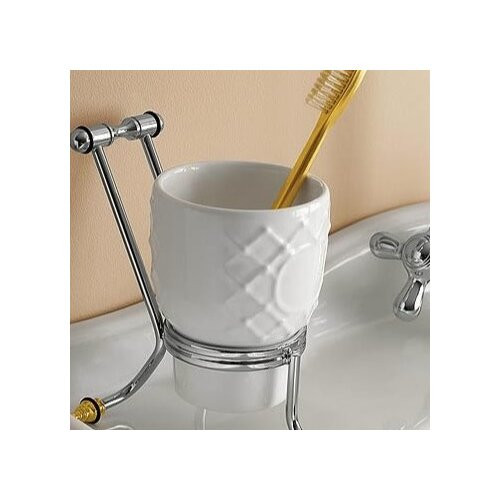 Free Standing Glass Toothbrush Holder