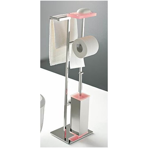Toscanaluce by Nameeks Four Function Butler with Plexiglass and Chrome Base