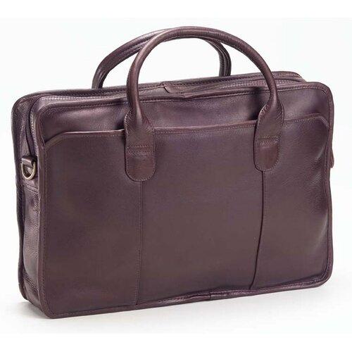 Clava Leather Colored Vachetta Classic Top Handle Leather Laptop Briefcase