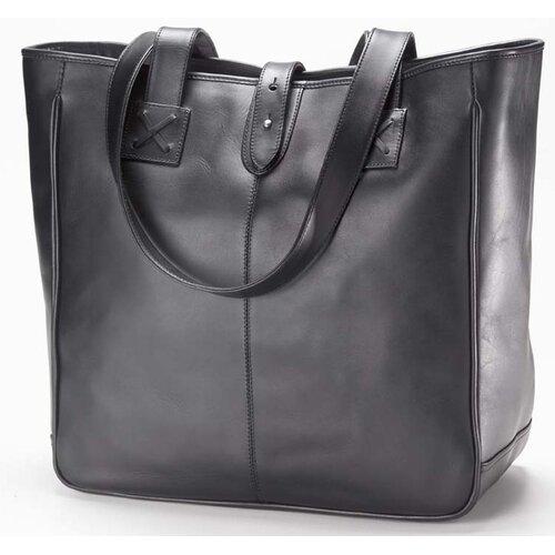 Clava Leather Colored Vachetta Small Open Tab Tote Bag