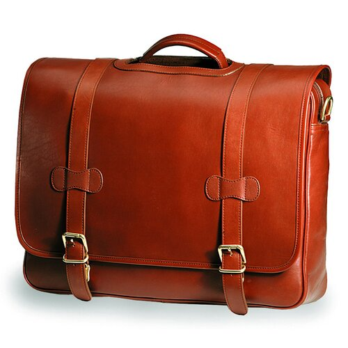 Bridle Executive Porthole Leather Laptop Briefcase