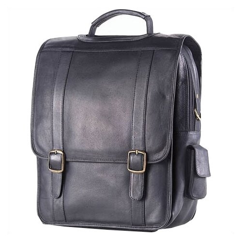Clava Leather Colored Vachetta Porthole Vertical Leather Laptop Briefcase