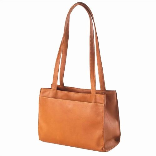 Clava Leather Tab Shopper Tote Bag