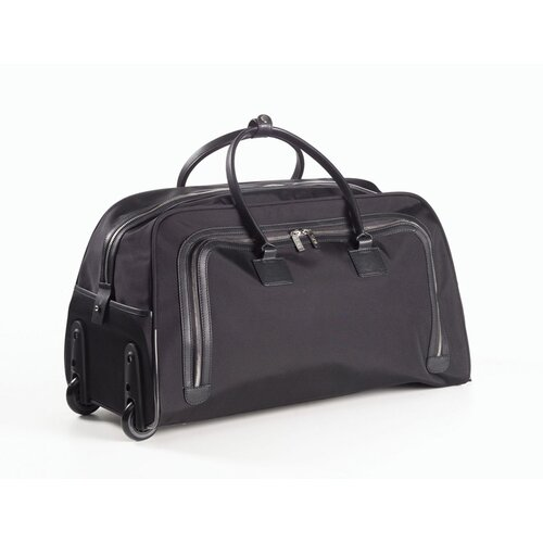 """Clava Leather  21"""" 2-Wheeled Carry-On Duffel"""