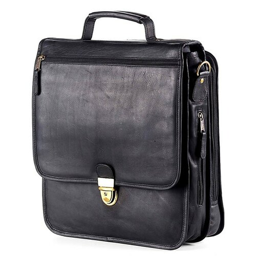 Tuscan Upright Vertical Leather Laptop Briefcase