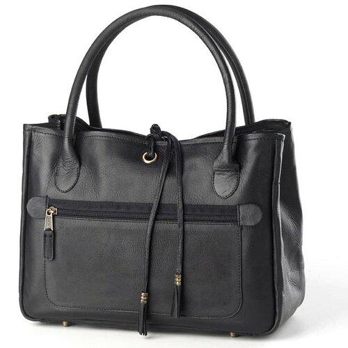Clava Leather Tassel Tote Bag
