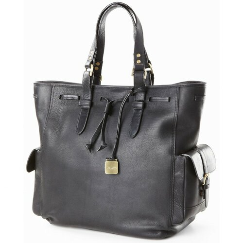 Clava Leather Drawstring Tote Bag