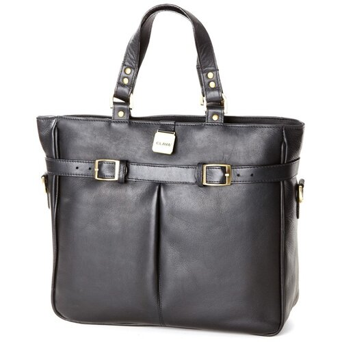 Pleated Buckle Tote Bag