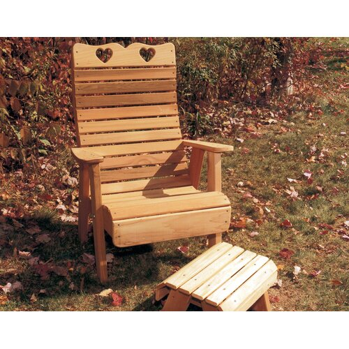 Creekvine Designs Cedar Furniture and Accessories Country Hearts Patio Adirondack Chair