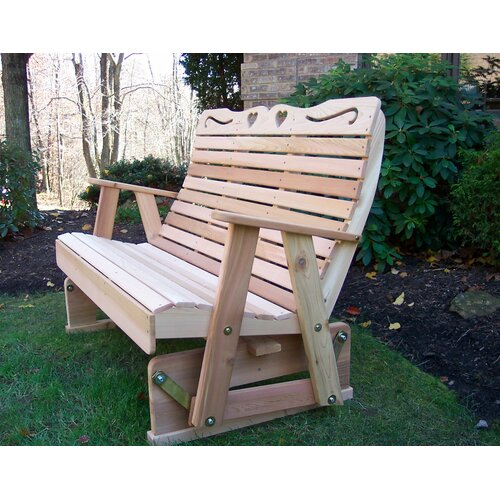 Creekvine Designs Country Hearts Wood Garden Bench