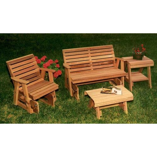 Cedar Rocking Classic Gliders and Tables Set
