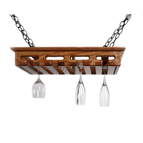 12 Glass Hanging Wine Glass Rack