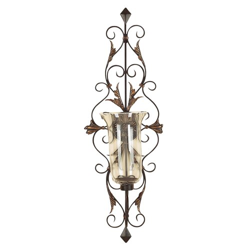 UMA Enterprises Toscana Dancing Light Metal Glass Sconce