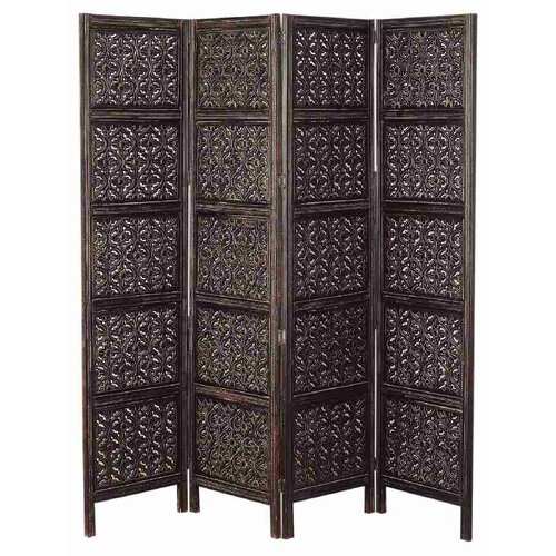 "UMA Enterprises 80"" x 72"" Rustic Screen 4 Panel Room Divider"