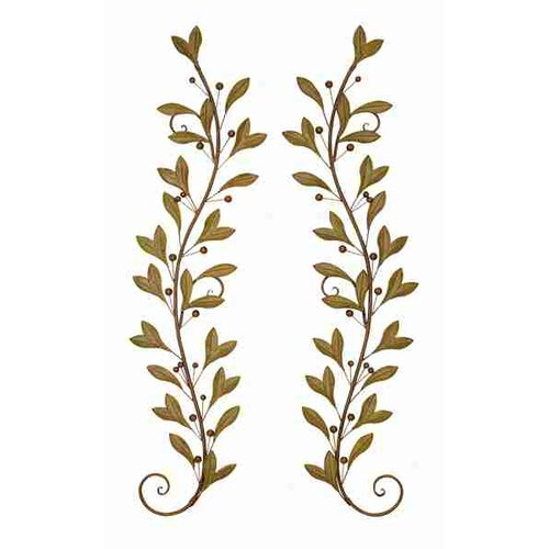 UMA Enterprises 2 Piece Urban Trends Leaves and Beads Wall Décor Set