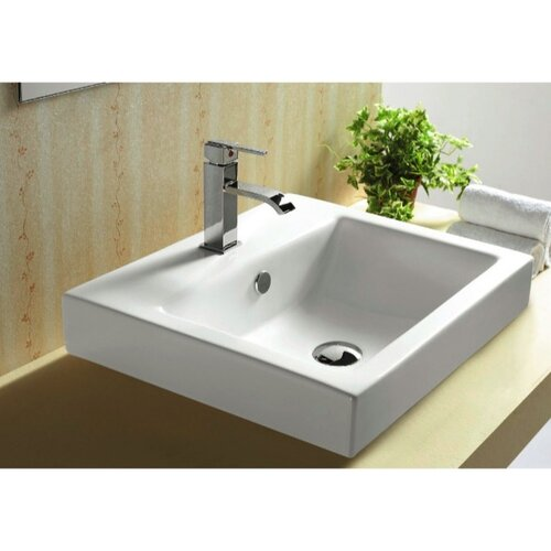 Caracalla Ceramica Self Rimming Bathroom Sink