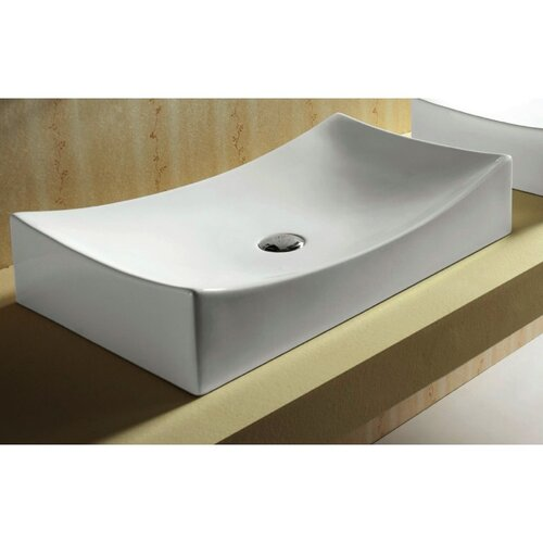 Bathroom Sink Rectangular : Caracalla Ceramica Rectangular Vessel Bathroom Sink